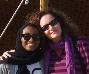 Me and Sherifa in Desert of Qatar